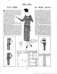 Robe en deux tissus (La Femme de France 04/05/1924)