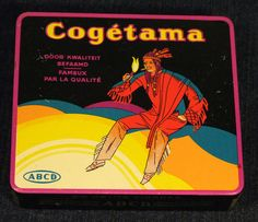 SUPER RARE ANTIQUE COGETAMA ART DECO NATIVE AMERICAN CIGARETTES TIN Circa 1930s | eBay