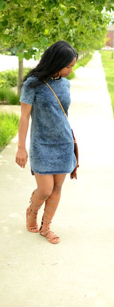 cute outfit different shoes. Denim Outfit by Sweenee Style Casual Outfits, Casual Wear, Cute Outfits, Denim Outfits, Fashion Design Inspiration, Style Inspiration, Spring Summer Fashion, Spring Outfits, Looks Style