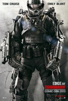 Edge of Tomorrow #Movie #Poster - Tom Cruise and Emily Blunt