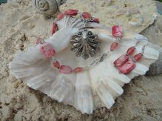 Coral Jasper Necklace and Earring Set with by GumboCreations, $60.00