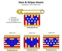 rwbhearts.gif 720×593 pixels Paper Patterns, Loom Patterns, Plastic Canvas Patterns, Pattern Paper, Beading Patterns, Safety Pin Art, Safety Pin Crafts, Safety Pins, Safety Pin Bracelet