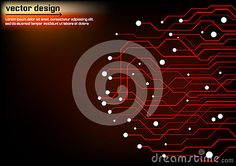 Abstract technology circuit board design