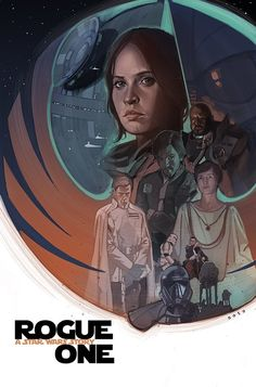 Looking Good, Rebel Scum || Teaser poster for Rogue One: a Star Wars Story by Phil Noto