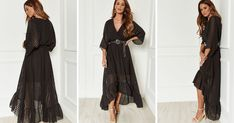618ca5a836 Black Plunge Maxi Dress By Lilah Rose
