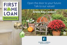 We'd like to introduce you to today's Green Key Lender: Finance of America Mortgage! Call Finance of America and ask about our First Home Loan with a low 30-year fixed rate of 3.500% (4.396% APR, 0 points) AND $3,500 towards down payment and closing costs. Visit MaineHousing.org/GreenKeyLenders today!