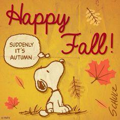 Autumn Snoopy ~ Happy Fall!