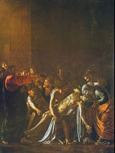 Caravage (Le) (1571-1610) La résurrection de Lazare 1609