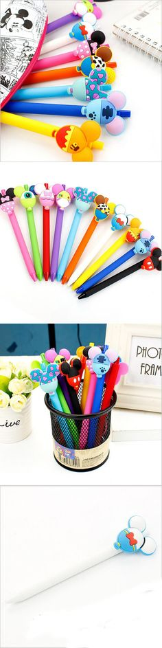 Cartoon animal balloon Gel Pen Kawaii 0.5mm Black Pen Kid Gift Papelaria Stationery Office & School Supplies WJ0369