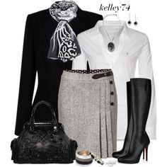 """Skirt & Boots"" by kelley74 on Polyvore"