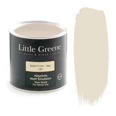Slaked Lime is a wonderful off-white tone to create a warm atmosphere. Available at Little Greene from Go Wallpaper UK Brick Effect Wallpaper, Go Wallpaper, Paint Companies, Paint Brands, Little Greene Farbe, English Rose Kitchen, Peinture Little Greene, Pink Paint Colors, Green Colors