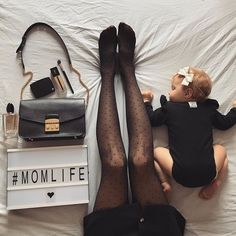 On the bed flatlay - Baby Photography Inspiration