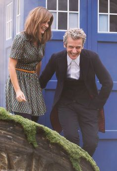Jenna & Peter Doctor Who Photocall at Parliament Square ~ 22 August 2014