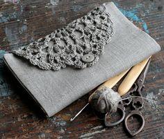 Linen Crochet Hook Case Holder Organizer by namolio on Etsy, $38.00