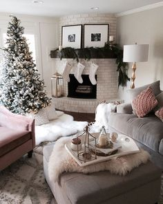 My favorite cozy corner of our home. 💕 // http://liketk.it/2pLJY @liketoknow.it #liketkit @liketoknow.it.home #ltkhome #christmastree #mypotterybarn
