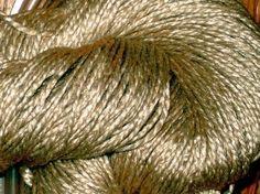 WORSTED Tussah Silk Undyed Yarn 2 Ply Natural Honey Silk