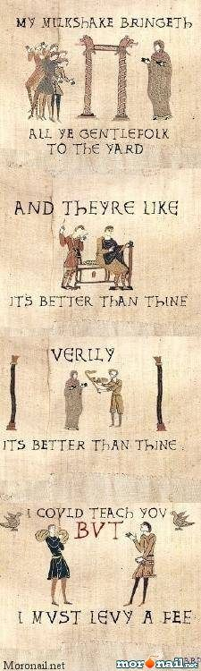 Better than thine.