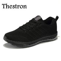 Thestron Men Sneakers Brand Sport Air Design Men Running Sneakers Blue/Black Men Gym Shoes Comfortable Running Mens Shoes #Affiliate