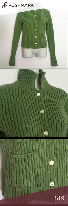 J. Crew green button down Sweater/Cardigan Gently used in very good condition J. Crew Sweaters