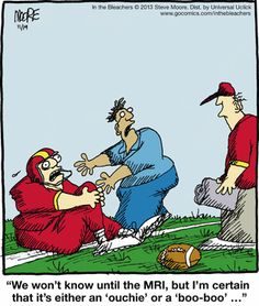 it's either an 'ouchie' or a 'boo-boo' :: In the Bleachers