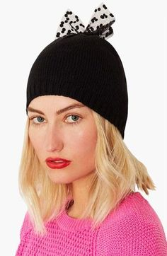 Topshop little bow beanie
