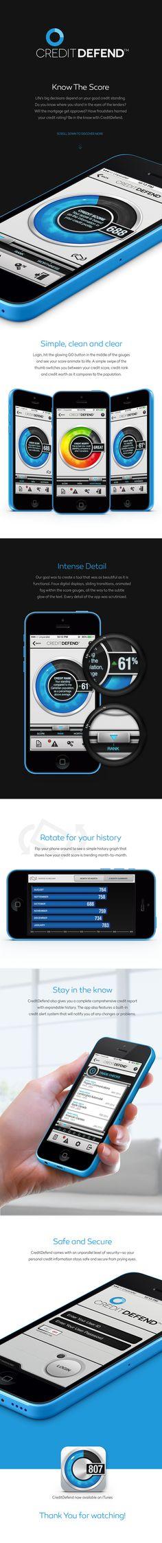 CreditDefend App on App Design Served