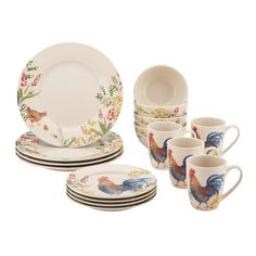 Multi-colored Willow Leaves Dinnerware - Ironstone | *Dinnerware u003e Dinnerware Sets* | Pinterest | Dinnerware  sc 1 st  Pinterest & Multi-colored Willow Leaves Dinnerware - Ironstone | *Dinnerware ...