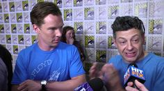 July 26, 2014 ~ In this Hit Fix interview at San Diego Comic Con's panel THE HOBBIT: THE BATTLE OF THE FIVE ARMIES, Benedict Cumberbatch (Smaug) and Andy Serkis (Gollum) talk about playing their characters using motion capture. (4:55) [Video]