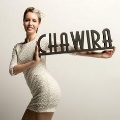 dekoracje - różne-CHAWIRA - napis 3D, rozmiar 70x20cm