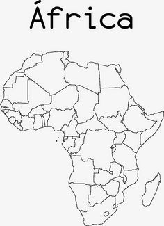 Two printable maps of Africa, one with country lines and