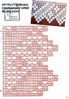 graficos de croche bicos e barrados - Pesquisa Google
