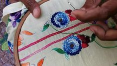 Hand Embroidery : Cauliflower Design / Part-2 / completed - YouTube