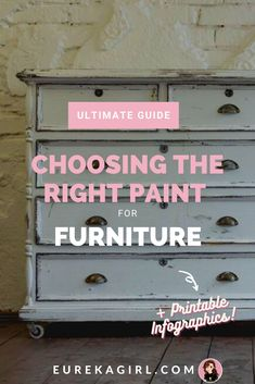 Want to revamp your furniture but have no idea which paint for furniture to use? Which paint is the best when you are looking for a distressed look? Do you need to sand, prime and topcoat the paint? With this guide, you can be confident at tackling ANY furniture painting project, trust me! #paintedfurniture #furniturepainting #upcycledfurniture #howto #diyfurniture #furnituremakeovers Furniture Refinishing, Paint Furniture, Custom Furniture, Furniture Makeover, Cool Furniture, Painting Tutorials, Diy Painting, Furniture Painting Techniques