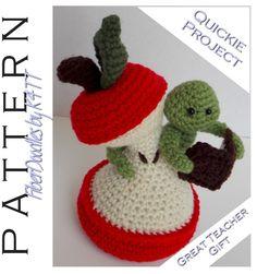 INSTANT DOWNLOAD : Bao the Bookworm Crochet Pattern by FiberDoodlesbyK4TT on Etsy https://www.etsy.com/listing/214827792/instant-download-bao-the-bookworm