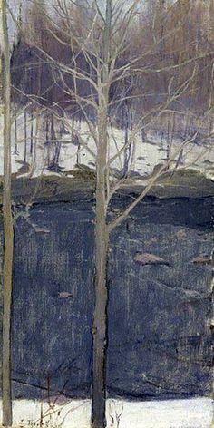 Aspens, 1893 Ellen Thesleff Finnish, Oil on canvas Ateneum Art Museum