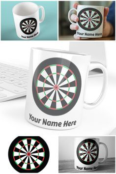 Personalised Dartboard Mug For Darts Fans Everywhere  #personalisedmugs #muglife #darts #dartboard #prandski