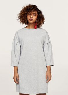 Pleats sweatshirt dress | VIOLETA BY MANGO