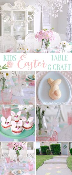 Come see the Easter Table & Craft my kids and I put together for them and some of their friends! Joining me are some friends with fabulous ideas as well! Easy Easter Crafts, Easter Ideas, Easter Decor, New Crafts, Crafts For Kids, Thanksgiving Preschool, Easter Table, Holiday Parties, Holiday Decor