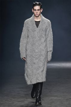 Ann Demeulemeester. It must be the year of men in sweater dresses.