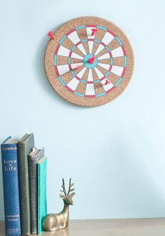 Funky message board made from cork---easy & quick DIY project! Dart Project Message Board, #ModCloth