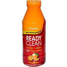 5 Pack - Detoxify Ready Clean Herbal Cleanse 16 Fl Oz Orange Flavor with Free Im Baked Bro and Doob Tubes Sticker