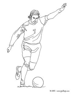 Christiano Ronaldo Playing Soccer Coloring Page Let Your Imagination Soar And Color This With The Colors