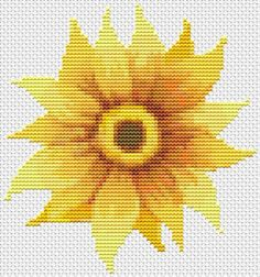 Mini Cross Stitch KIT Flower Series: Sunflower Welcome by TheArtofCrossStitch on Etsy. Also available in PDF. #crossstitch