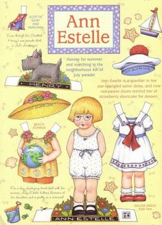 Summer 4th of July Ann Estelle Paper Doll Sheet from Mary Engelbreit's Home Companion