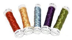 Flat silk embroidery thread from Hedgehog Handworks.