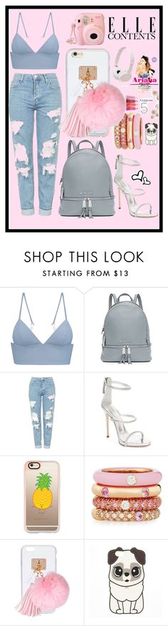 """""""ariana look"""" by paulapirez ❤ liked on Polyvore featuring T By Alexander Wang, MICHAEL Michael Kors, Topshop, Giuseppe Zanotti, Casetify, Adolfo Courrier, Ashlyn'd, Fujifilm, Sony and Aroma"""