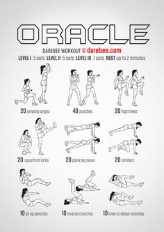 The Oracle Workout DAREBEE Full body work-out