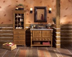 Explore Merillat Cabinets, your preferred source for exquisite kitchen and bath cabinets and accessories, design insipiration, and useful space planning tools. Country Bathroom Vanities, Wooden Bathroom Vanity, Country Style Bathrooms, Bathroom Vanity Designs, Modern Bathroom Design, Bathroom Interior, Bathroom Cabinets, Bathroom Remodeling, Interior Paint
