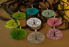 Family Tree Pendant  Available in different background colors!     www.theschaeferhouse.com