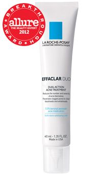 "Best Acne Treatment - La Roche-Posay Effaclar Duo, $37; laroche-posay.us. ""When zits strike, time is of the essence. That's why we're so taken with this acne fighter, which exfoliates dead skin cells with lipo-hydroxy acid, allowing benzoyl peroxide to penetrate more easily and get the job done."""